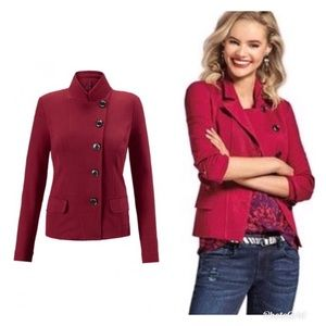 Cabi Red Outing Blazer Size 4